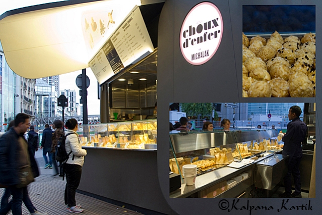 The choux d'enfer gourmet stall