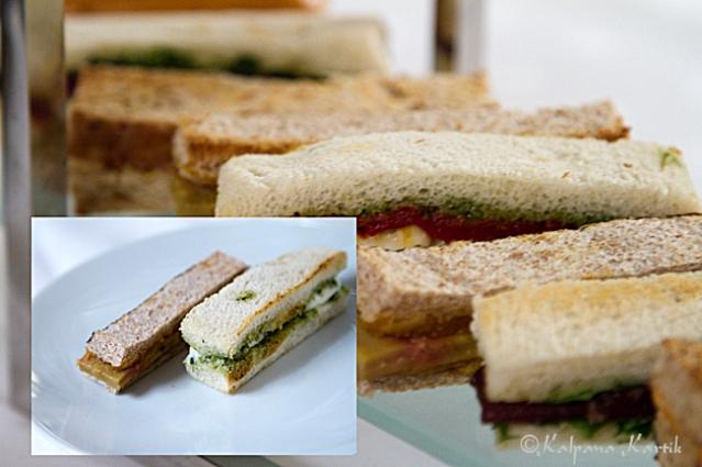 Finger sandwiches at Le Dali