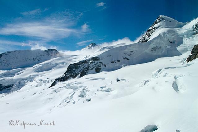 Snowy peaks of Jungfrau