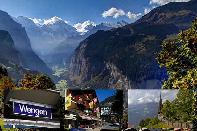 Wengen and Lauterbrunnen valley