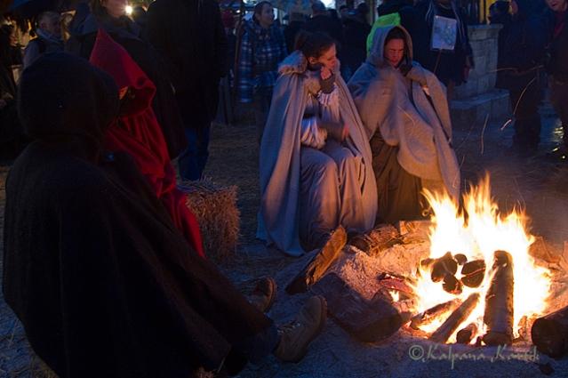 Medieval bonfire in Provins