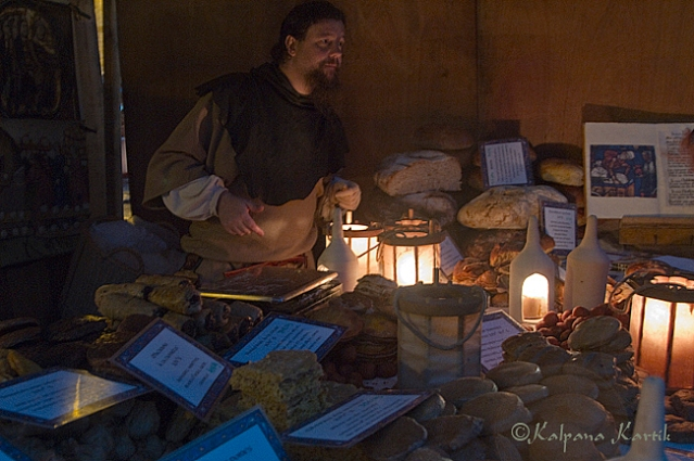 Medieval bread seller