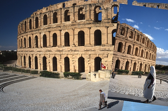 El Jem Roman Amphitheater in Tunisia