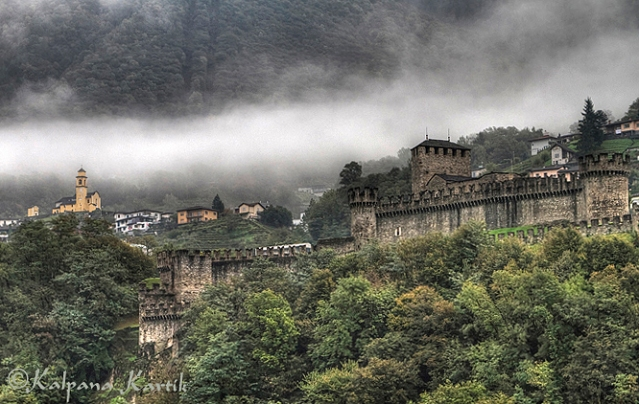 Castello di Montebello, one of the three castles in Bellinzona