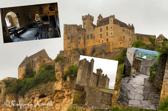 The fortified Beynac castle in Dordogne