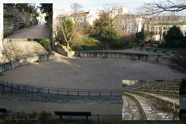 The Roman arena of Lutèce in Paris