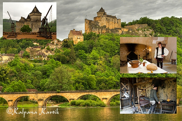 Castelnaud and collection of weaponry used in the Middle Ages