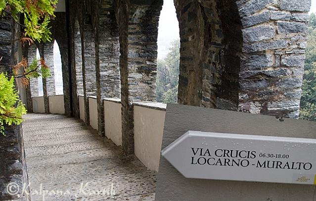 The via crucis of Madonna del Sasso in Orselina