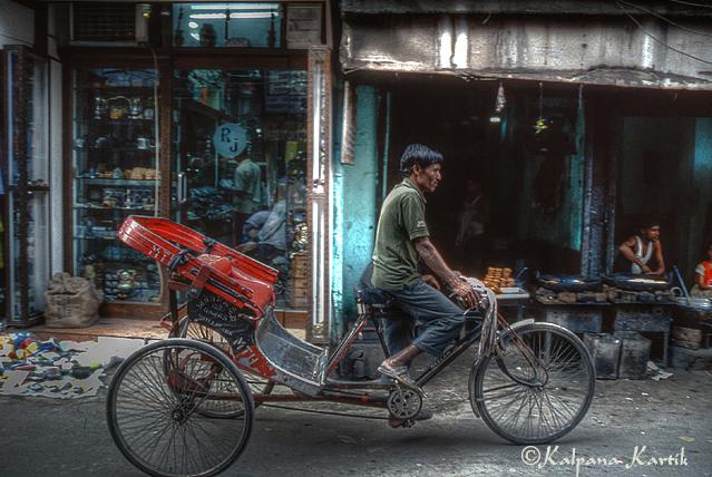 Rickshaw in Paharganj Old Delhi
