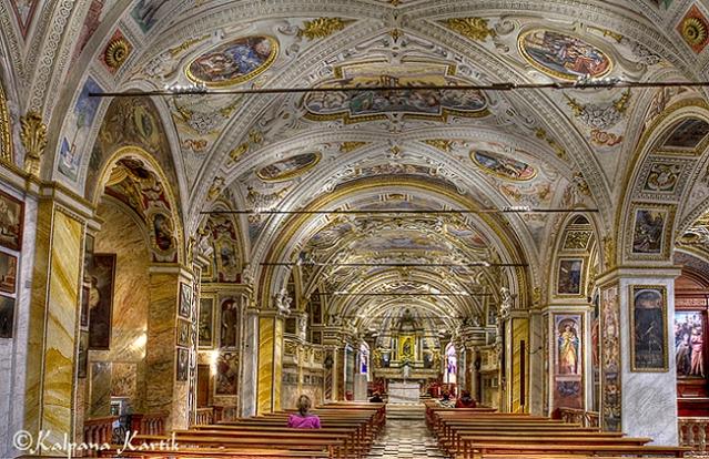 Interior of Madonna del Sasso church