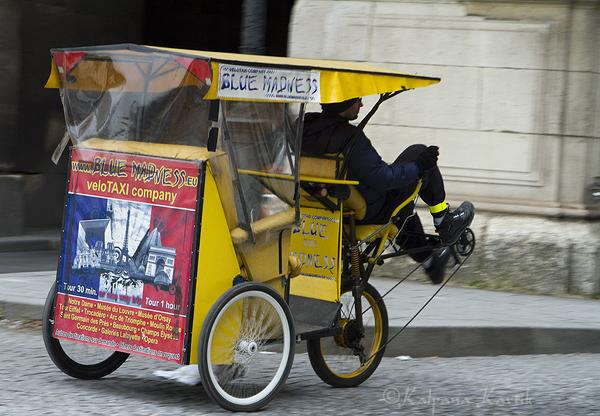 Parisian rickshaw