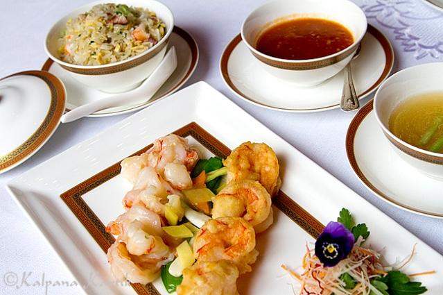 Shrimp platter Cantonese style