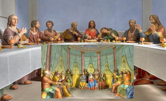 Sculptures decorating chapels of the sanctuary