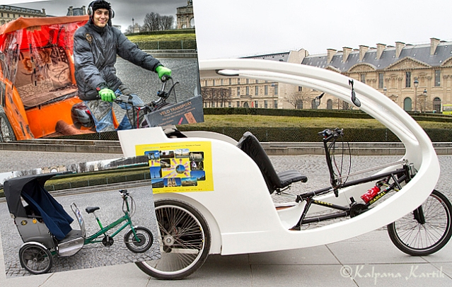 Electric rickshaw or velo  in Paris