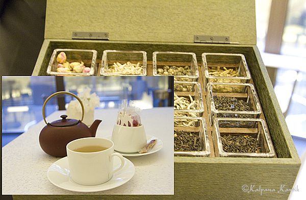 Herbal tea at Thierry Marx Sur Mesure restaurant at the Mandarin Oriental