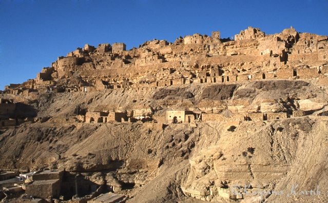 The old Berber village of Chenini in south Tunisia