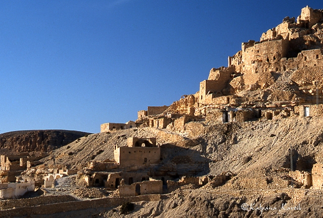 The hill top Berber village of Chenini in Tataouine South Tunisia