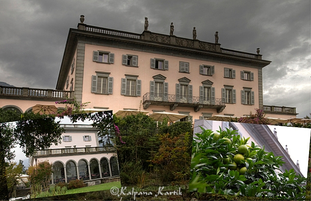 The Mansion on the Isola Grande in Brissago on the Swiss part of Lake Maggiore