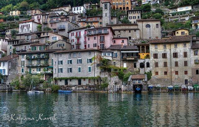 The charming village of Gandria on Lake Lugano Switzerland