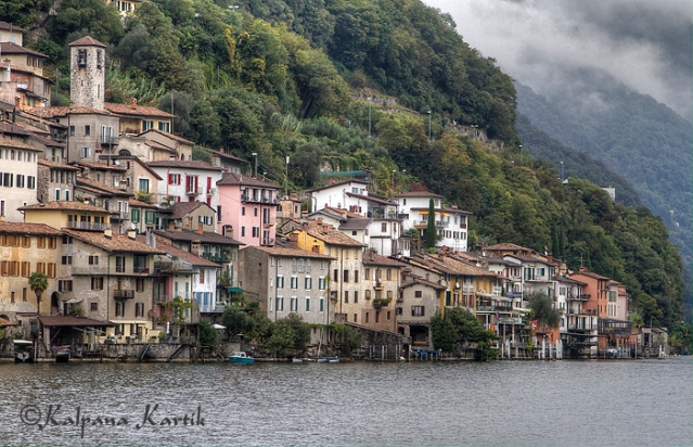 The village of Gandria along Lake Lugano Switzerland
