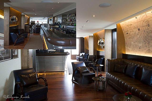 The aviator bar of  L'Oiseau Blanc at the Peninsula Paris