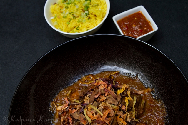 Beef rendang regional dish from Perak Malaysia