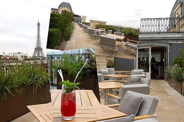 The beautiful terrace of L'Oiseau Blanc