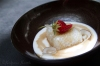 Malaysian tapioca based dessert with coconut cream