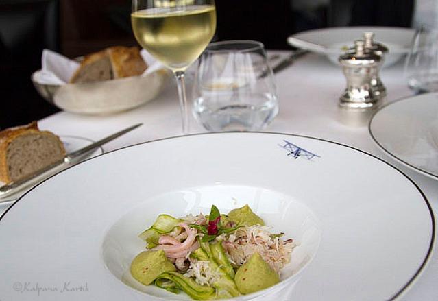 Squids with asparagus cream