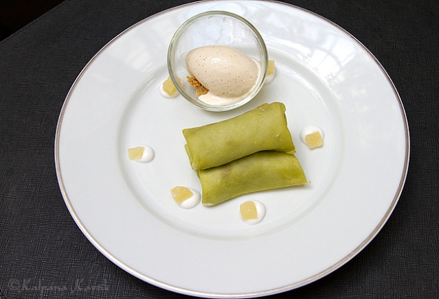 Pandan crepes served during Malaysia food week at Le Bauhinia
