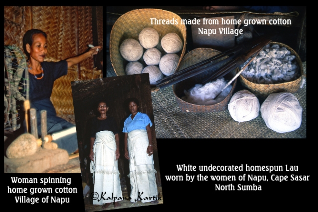Rare images of undecorated traditional cloth made from home spun cotton