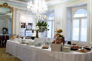 Breakfast buffet at Les Trois Couronnes