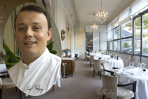 Gastronomic restaurant Les Trois Couronnes and Lionel Rodriguez Chef of les Trois Couronnes