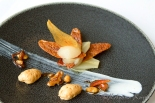 Poached pear in caramel