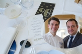 Damien Leroux (L) Chef at Rech and Eric Mercier (R) restaurant manager