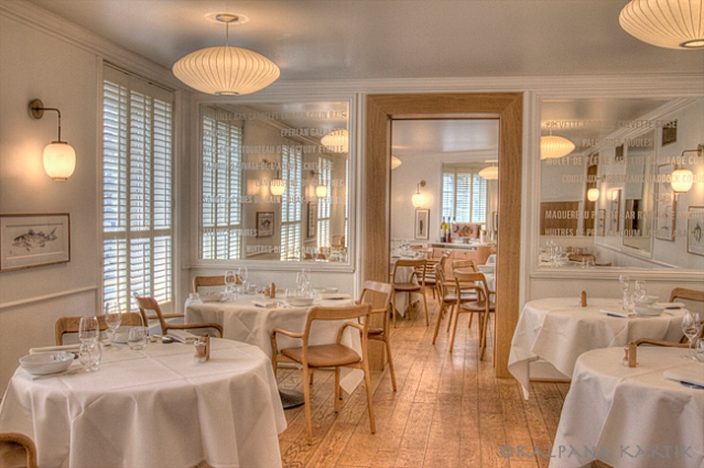 Rech seafood restaurant in Paris by Alain Ducasse