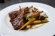 Grilled veal with carrots