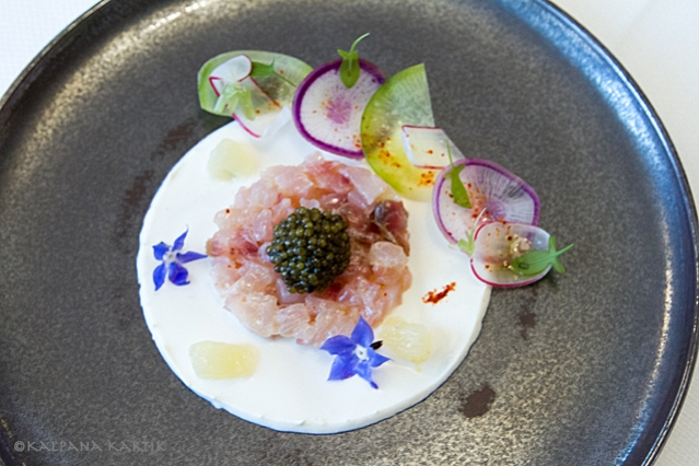 Red mullet tartar