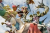 Falla, monumental artisitic work constructed for Fallas Festival Valencia Spain