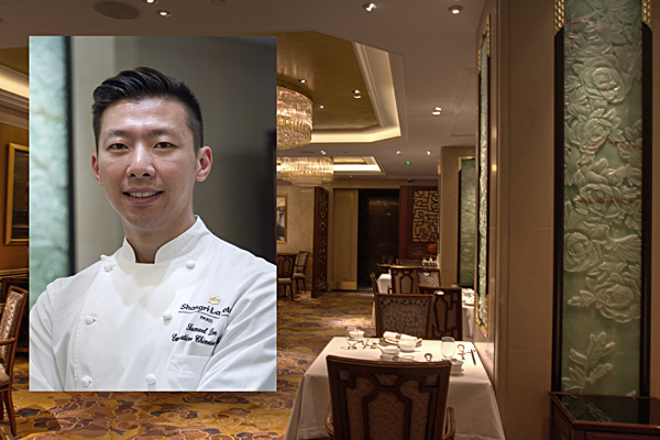 Samuel Lee Sum head Chef of Shang Palace at the Shangri-la Hotel Paris France