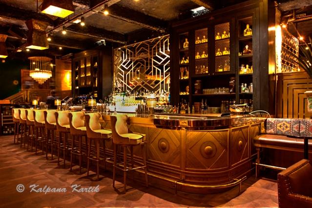 The lounge bar of Manko restaurant Paris
