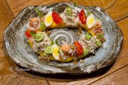 Causa Limena potato pureed salad