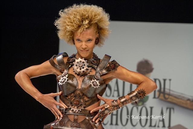 The chocolate fashion show at the Salon du Chocolat