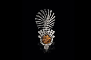 Eye of the tiger turban decoration 1937 Cartier London Platinum, diamonds from the Al Thani collection